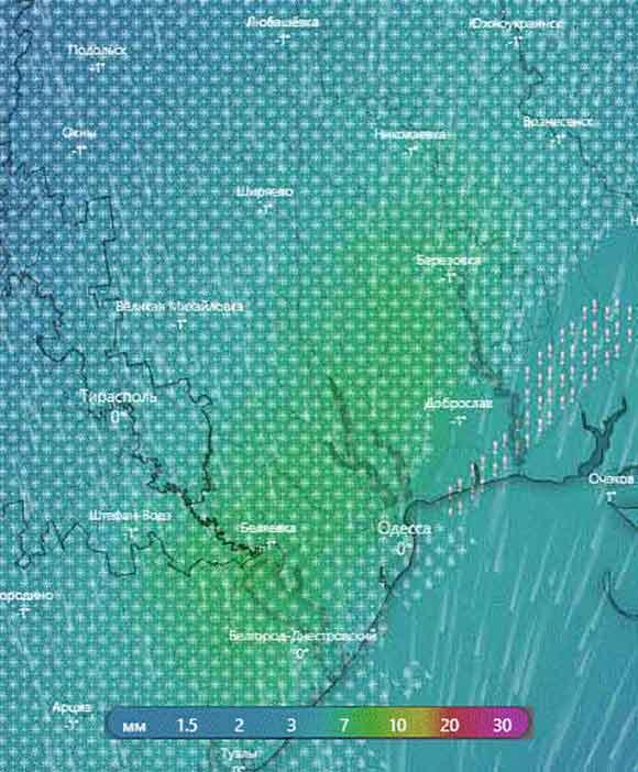 Предупреждение Одесскую область накроет снегом